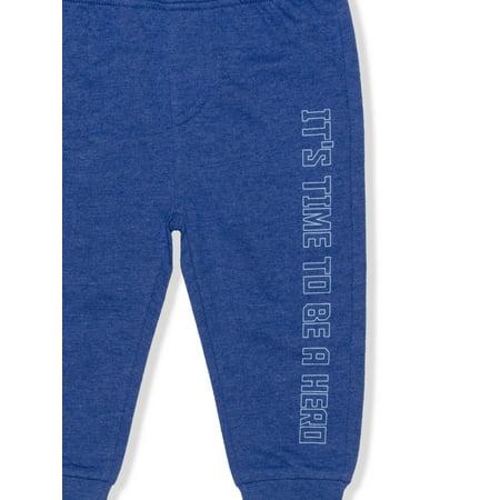 PJ Masks Baby Boy & Toddler Boy T-Shirts, Shorts, & Jogger Pants Outfit Set, 4-Piece, 12M-5T