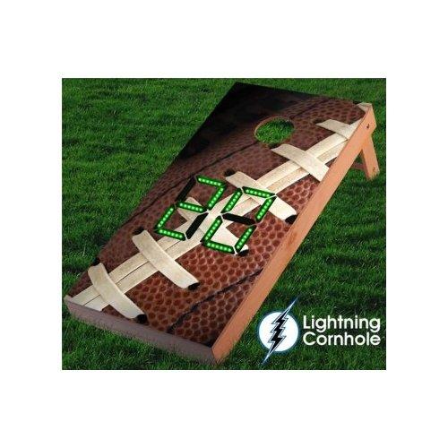 Lightning Cornhole Electronic Scoring Football Cornhole Board by