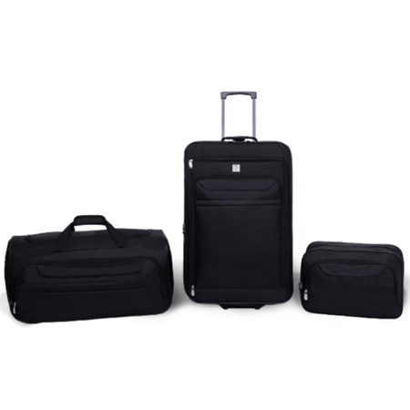 Protege 3 Piece Luggage Travel Set (2 Piece Stackable Luggage Set)