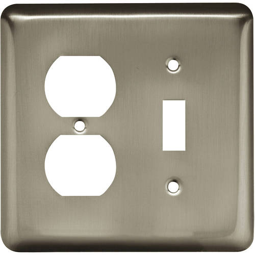 Liberty Hardware  64358  Switch Plates  Stamped Round  Accessory  Single  ;Satin Nickel
