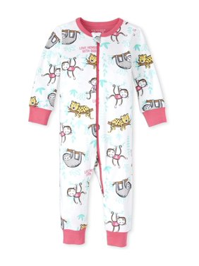 The Children's Place Baby & Toddler Girls 1-Piece Snug Fit Cotton Footless Pajamas