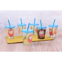 6 Pack Mainstays Melamine Girl Owl Tumblers Set