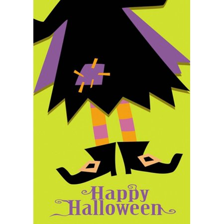 Halloween Boots Witch Garden Flag Holiday 12.5