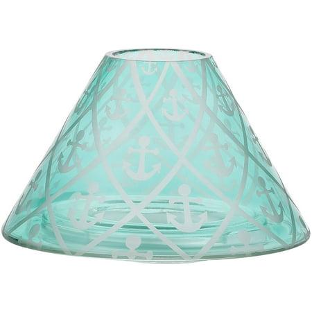 Pavilion Gift Company- Aqua Anchor Large Jar Candle