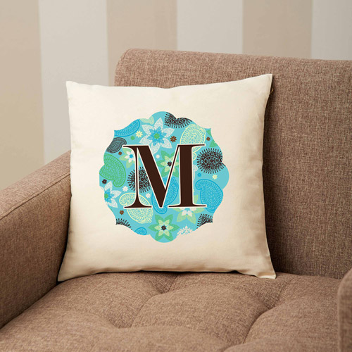 Personalized Paisley Accent Pillow
