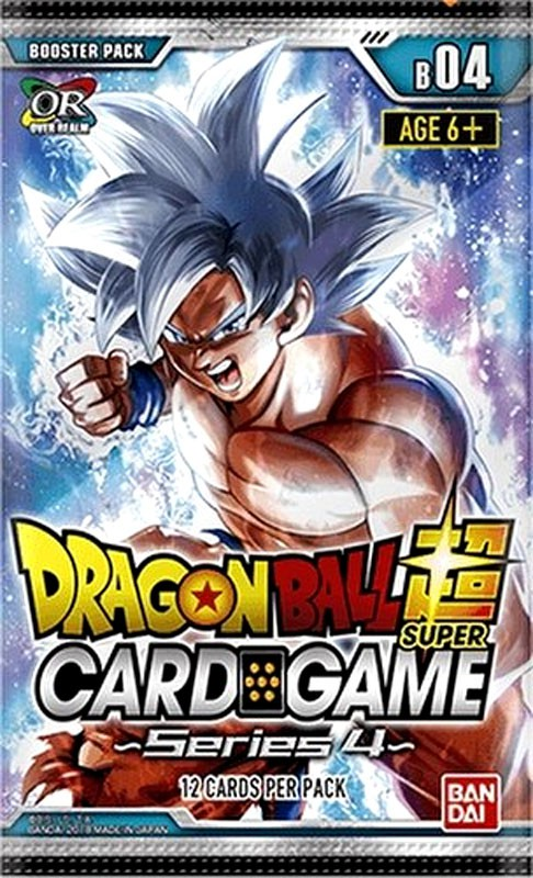 Dragon Ball Super Collectible Card Game Series 4 Booster Box [24 Packs] by Bandai