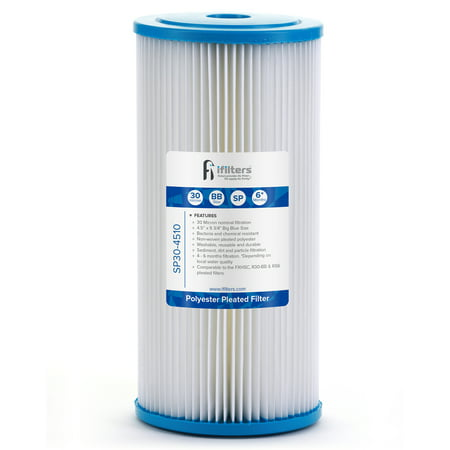 Sediment Pleated Water Filter City or Well Water, Washable 4.5
