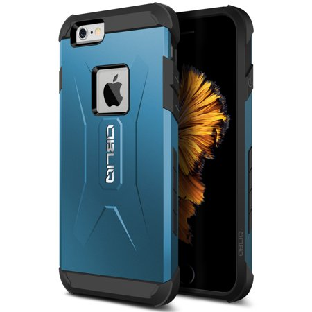 OBLIQ, iPhone 6S Case [Xtreme Pro][Metallic Blue] Hybrid Rugged Dual Layered Armor Shock Resistant Protective Cover for Apple iPhone 6 and iPhone