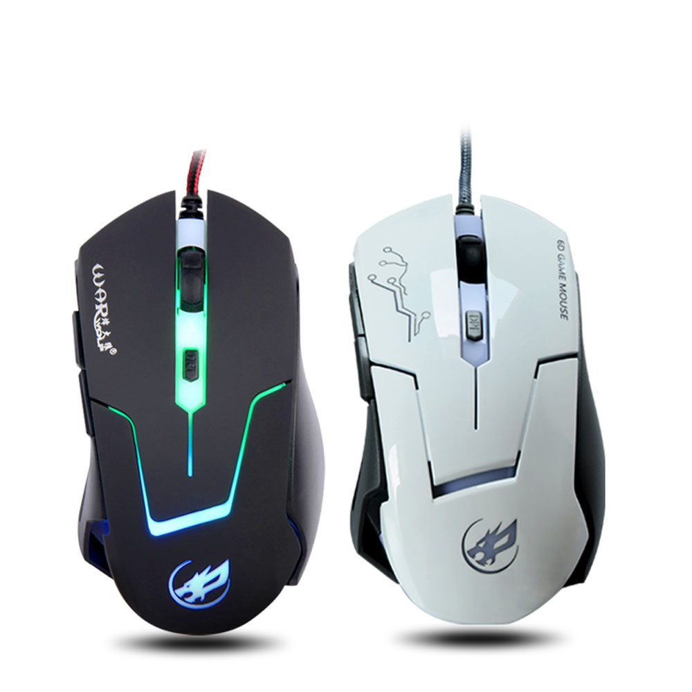 2400 DPI 6D Buttons LED Wired Gaming Mouse For PC Laptop BK Popular