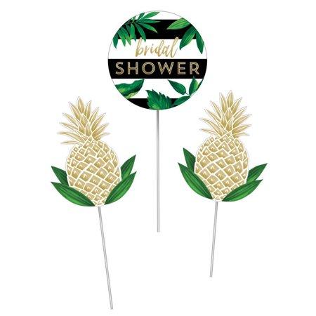 Creative Converting Golden Pineapple Diy Centerpiece Sticks, 3 ct](Pineapple Centerpiece Ideas)