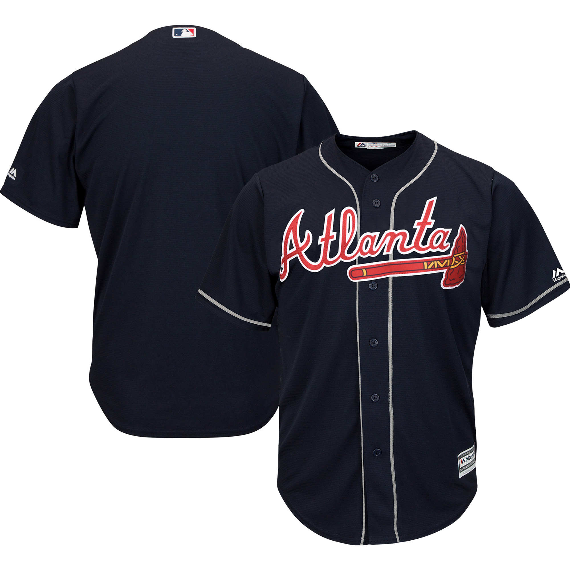 Atlanta Braves Majestic Big & Tall Alternate Cool Base Replica Team Jersey - Navy
