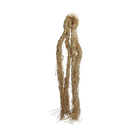 Thanksgiving and Halloween Autumn Natural Curly Raffia Hank 2 Oz