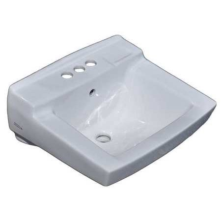 American Standard 0321.075.020 Declyn Wall Mounted Lavatory Sink for Concealed Arms (not included) with Three Faucet Holes (4 Centers),