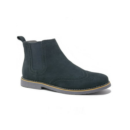 Suede Goth Boots Shoes - Alpine Swiss Men's Chelsea Boots Genuine Suede Dress Ankle Boots Wingtip Shoes