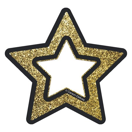 Gold Glitter Stars Cut Outs Sparkle And Shine
