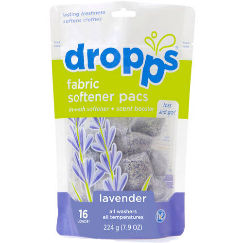 Dropps Lavender Fabric Softener Pacs, 16 count