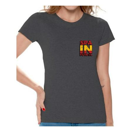 e897c26f885 Awkward Styles Spain Futbol Shirt for Women Spanish Soccer Tshirt Spain  Shirts for Women Spain 2018 Tshirt Spanish Soccer 2018 Spain Gifts Gifts  from Spain ...