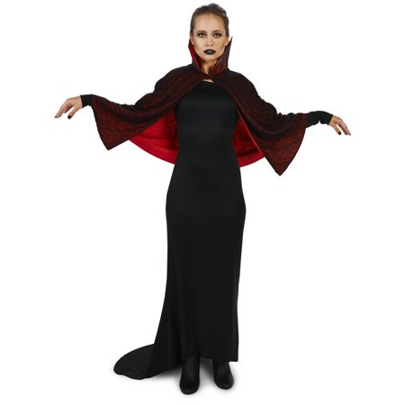 Vampire Dress Up (Seductive Vampire Dress with Capelet Women's Adult Halloween)