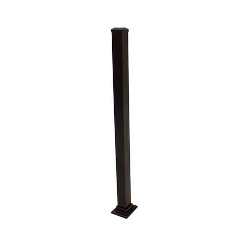 Gilpin Ironworks 629042FB Aluminum Post, Black, 43-In.