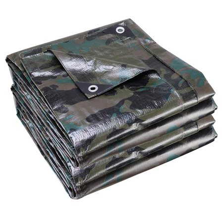 Yescom 12' x 16' Poly Tarp Reinforced All Purpose 7 Mil Waterproof UV Resistant Cover Shelter Tarpaulin Camouflage (12mil Tarp)