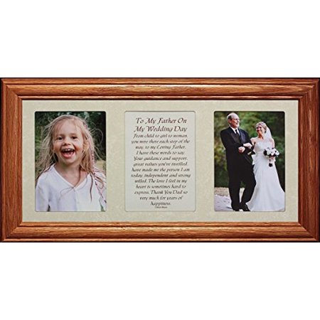 7X15 To My Father On My Wedding Day Poetry & Photo Wedding Gift For The Father Of The Bride!