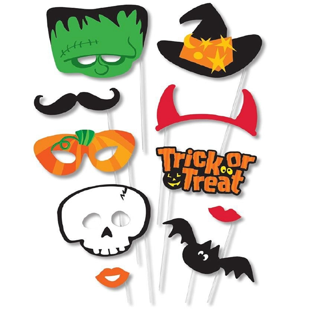 10-PCS DIY Mask Photo Booth Props Mustache On A Stick Wedding Birthday Party