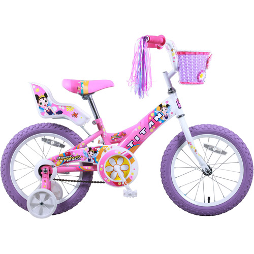 "16"" Titan Flower Princess Girls' BMX Bike"