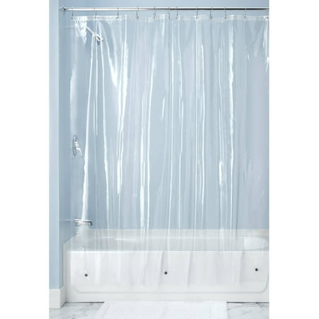 Rice Vinyl Shower Curtain - InterDesign 10 Gauge Clear Vinyl Shower Curtain Liner, 72