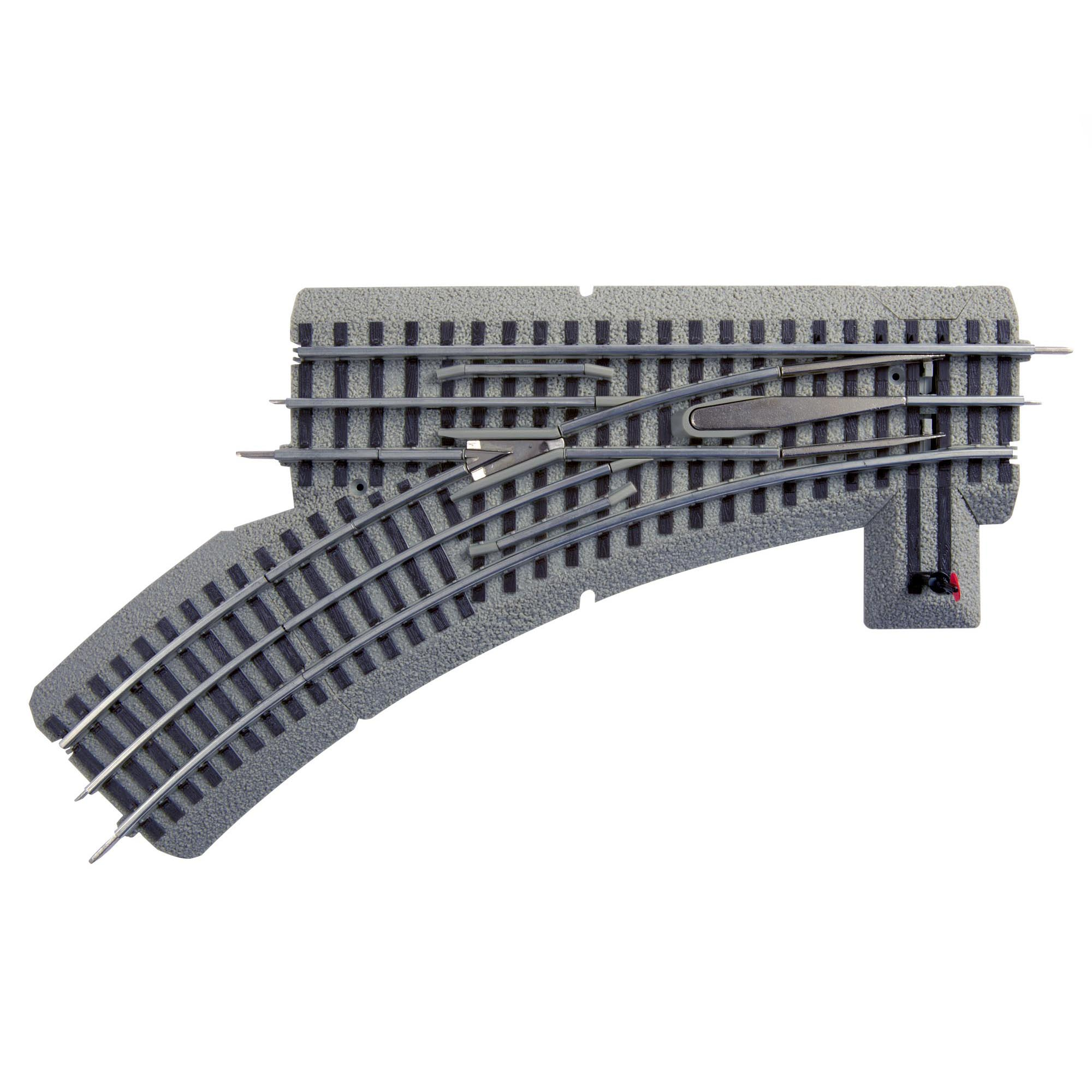 Lionel Trains O-Gauge Fastrack O36 Manual Left Hand Switch Track Piece w/ Curve
