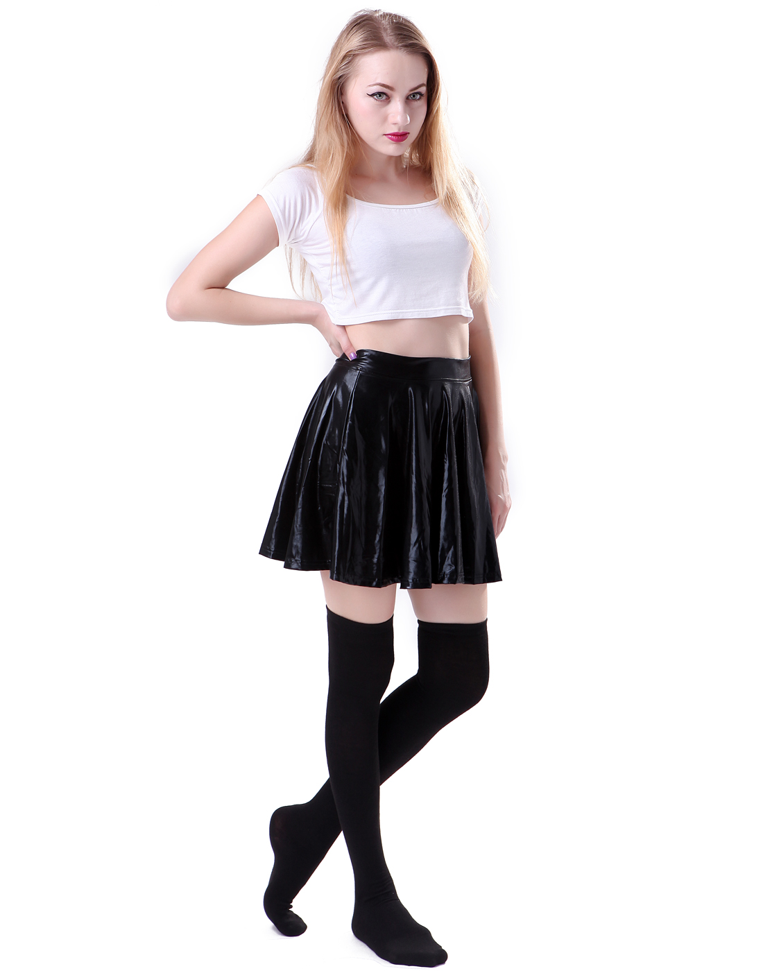 Girls Plain Knee High Long Every School Socks