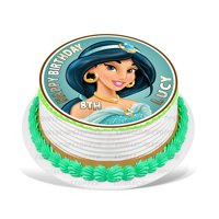 Princess Jasmine Edible Cake Image Topper Personalized Picture 8 Inches Round