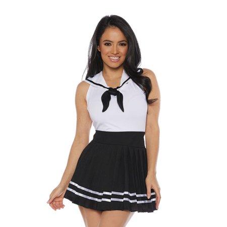 Sailor Skirt Set Adult Costume (Black) (Womans Sailor Costume)