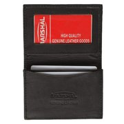 New Leather Business Card Holder Expandable Wallet Money Card Case Black Mens