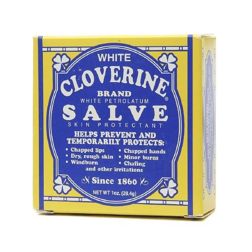 2 Pack - White Cloverine Salve, White Petrolatum Skin Protectant, 1 oz Each