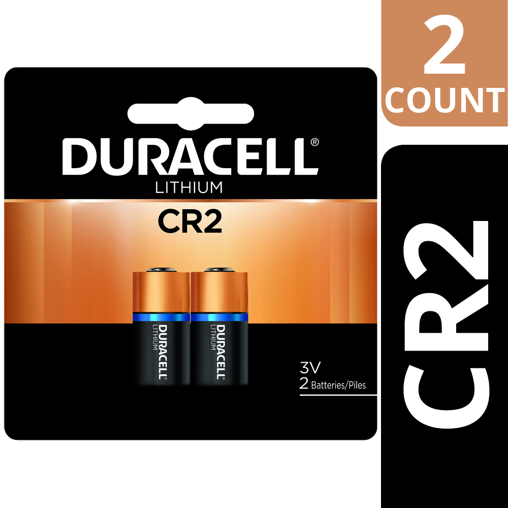 Duracell 3V High Performance Lithium Battery CR2, 2 Pack, Long-Lasting