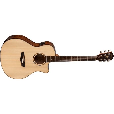 Open Box - Washburn  WLO10SCE  Woodline  Orchestra  Solid  Spruce  Top  Cutaway  Acoustic  Electric  Guitar  Natural