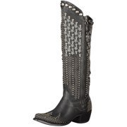 Lane Western Boots Womens Killa Flag Studded Detail Black DD9006A
