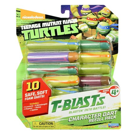 Teenage Mutant Ninja Turtles T-Blasts Refill Pack Dart Ammo 10-Pack [Combination 2]