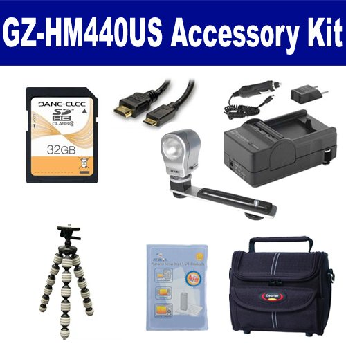 Syenrgy Digital Camcorder Accessory Kit Works with JVC GZ-HM440US Camcorder includes SDM-1550 Charger GP-22 Tripod