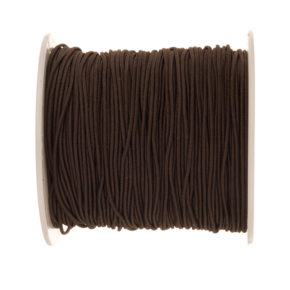 Brown Bracelet Elastic Cord For Slip-On Bracelets Or Watch Bands 1mm