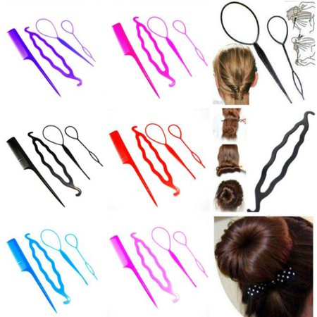 Women Hair Braid Clip Magic Styling Stick Bun Maker Tool Fashion Accessories