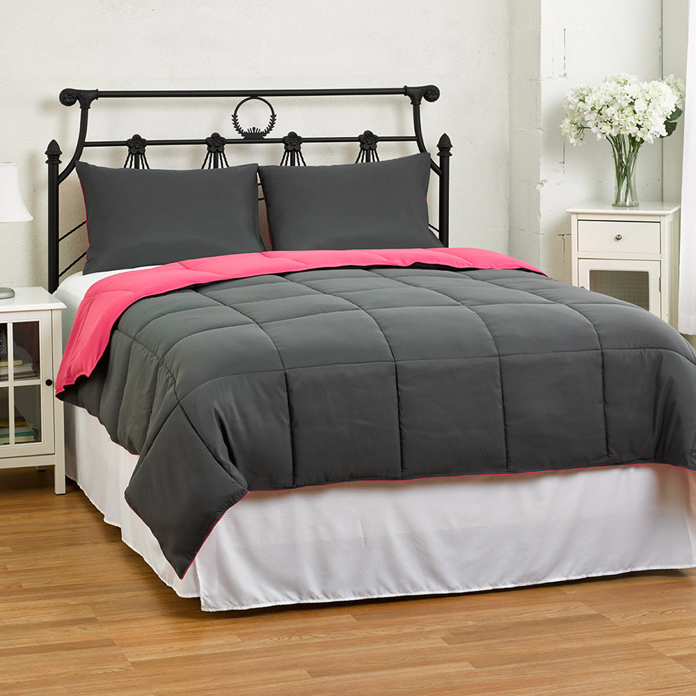 Reversible Medium Weight Down Alternative Comforter Set by ExceptionalSheets