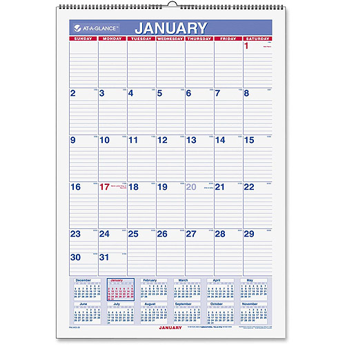 At A Glance Wallmates Self Adhesive Dry Erase Yearly