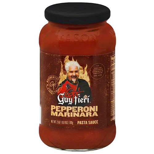 Guy Fieri Pepperoni Marinara Pasta Sauce, 25 oz, (Pack of 6)