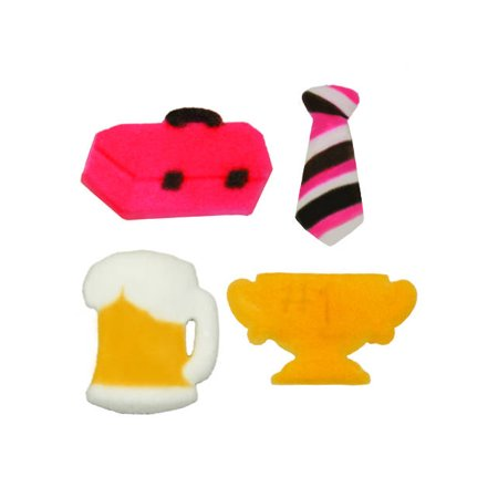 Fathers Day Beer Neck Tie Tool Box Trophy Sugar Decorations Toppers Cupcake Cake Cookies Birthday Favors Party 12 Count](Tie Dye Cakes)