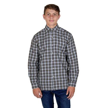 Hickey Freeman Mens Long Sleeve Button Down Shirt  Medium, Hunter