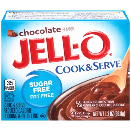 Fat Free Sweet - Jell-O Sugar Free Fat Free Chocolate Cook & Serve Reduced Calorie Pudding & Pie Filling Mix 1.3 oz. Box