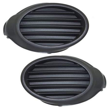 Pair Set Fog Light Lamp Lens Front Bumper Hole Cover Grille Inserts Replacement for 12-14 Ford Focus CP9Z17B814A CP9Z17B814B