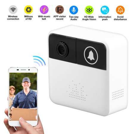 Smart Wifi Wireless Doorbell, Video Doorbell 720P HD Security Camera  Real-Time Video and Two-Way Talk, Night Vision, PIR Motion Detection App  Control