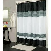 Kashi Home Ibiza Shower Curtain 70x72, Black White